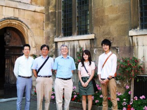 with Jan at Pembroke college
