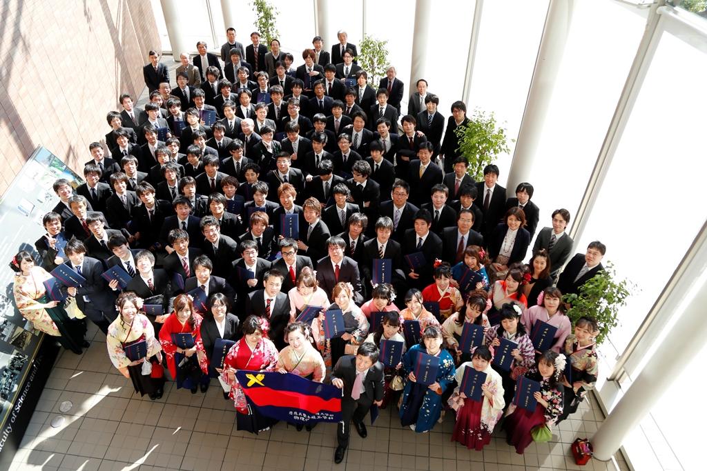 2013年度物情卒業式集合写真