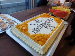 祝賀会でのデザートのケーキ
