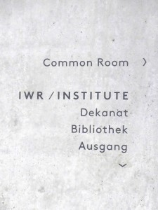 ハイデルベルグ大学数学教室の Common rook の案内