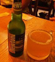 青リンゴの風味がするベルギービール Newton